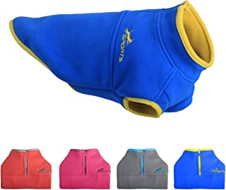 Leepets Cold Weather Fleece Dog Vest for Small Dog Half Zip Pullover Puppy Sweater Winter Warm Coat Clothes for Dog 3 to 25 lbs
