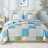 Hyde Lane 3 Piece Queen Size Quilt Sets | Size: 90x90 – Emy | Soft Summer Comforter | Lightweight Quilt Bed Spread Coverlets (1 Quilt + 2 Shams)