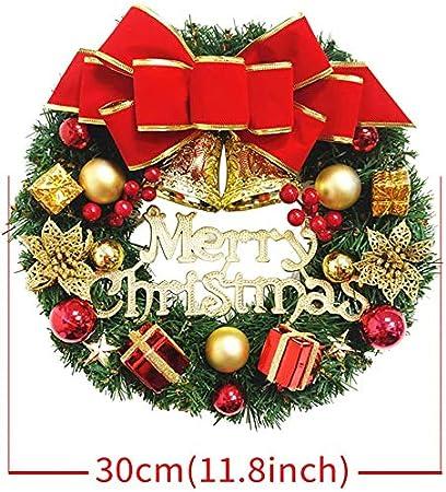 Gutsbox Weihnachtskranz Weihnachtsgirlande Deko 30cm Kreativ Weihnachten T/ürkranz Treppent/ür Weihnachten Kamine Treppen T/üren Baum Garten Dekor