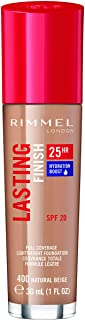 Rimmel London Lasting Finish Foundation 25H Base de Maquillaje Tono 400 Natural Beige - 112 gr