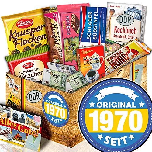 Original seit 1970 + Geschenke 50. Geburtstag Frau + Schokolade Ostpaket