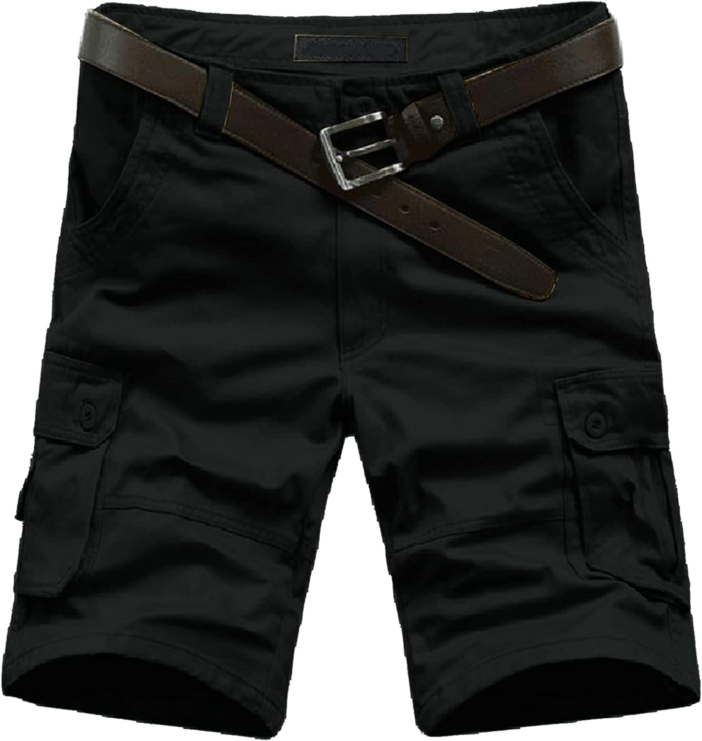 aihihe Mens Camo Cargo Shorts Relaxed Fit Lightweight Multi Pocket Camouflage Outdoor Twill Cargo Shorts