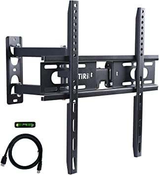 Monitor Wall Mount TV Mounts Fits Most 23-55 Inch LED,LCD, OLED Flat Screen TV,Full Motion TV Mount with Dual Swivel Articulating Arm Up,Max Vesa 400x400mm