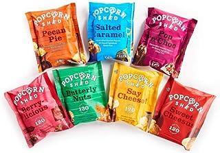 Popcorn Shed's Paquete de selección de degustación de palomitas gourmet (paquete de 7): el regalo perfecto para palomitas de maíz | Snacks naturales, sin gluten y vegetarianos