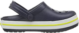 Crocs Kids' Crocband Clog, Blue (Navy/Citrus), 9 UK Child 25/26 EU