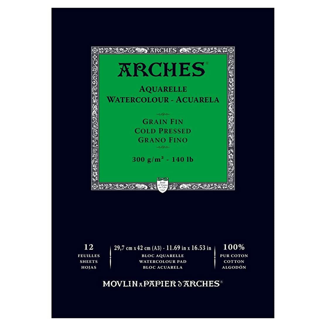 Arches Watercolor Paper Pad, 140 Pound, Cold Press, 11.69