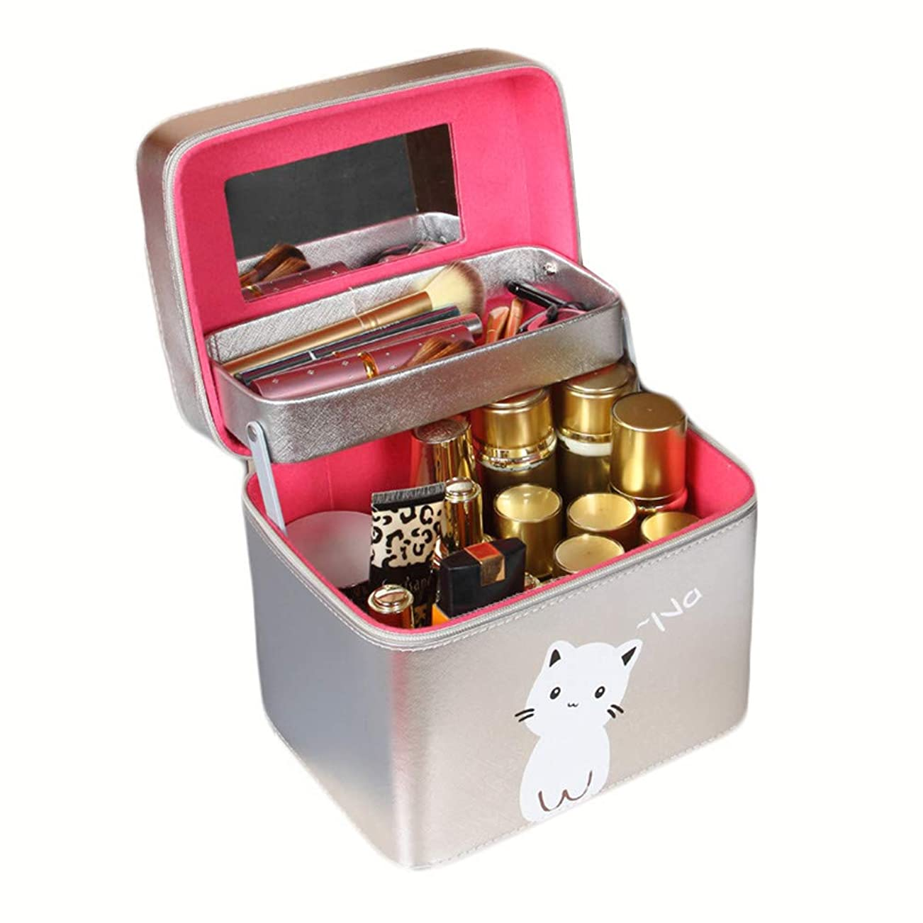 ショッキング固体同時[ディーハウ]メイクボックス 化粧ボックス 化粧道具 小物入れ収納ケース 収納ボックス 大容量 プロ用 コスメボックス 化粧道具入れ 携帯用化粧箱 女性 多機能 多容量 お洒落 化粧ボックス