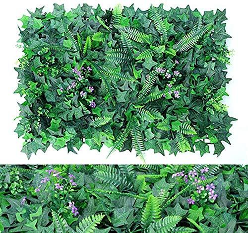 Planta artificial de setos, decoración al aire libre, 10 piezas de plantas artificiales verdes, vallas, jardines, vallas, jardines, jardines, jardines, balcones y terrazas 11.1