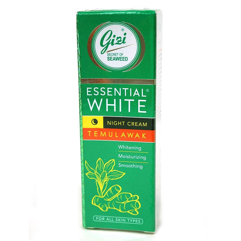クラブ因子パトロンギジ gizi Essential White ナイト用スキンケアクリーム チューブタイプ 18g テムラワク ウコン など天然成分配合 [海外直送品]