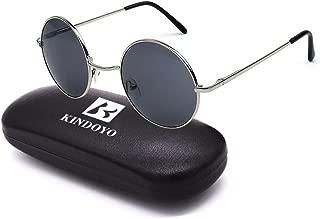BOZEVON Retro Round Sunglasses Cyber Goggles Steampunk Punk quality UV400 for Men Women