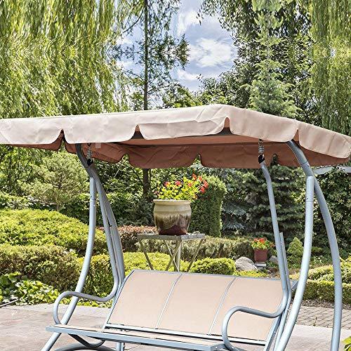 Marken-Ersatz-Überdachung für Hollywoodschaukelsitze mit 2 & 3-Sitzern, Abdeckung für Terrasse, Hängematte, Abdeckung für den Außenbereich, universelle Farben und Größen