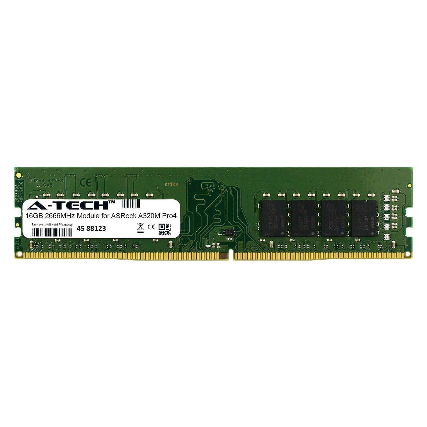 A-Tech 16GB Module for ASRock A320M Pro4 Desktop & Workstation Motherboard Compatible DDR4 2666Mhz Memory Ram (ATMS395910A25823X1) mlajtj7238484