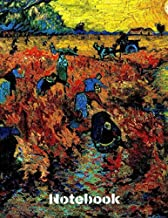 """Notebook Van Gogh: Cool Artist Gifts  - Starry Night Vincent Van Gogh Notebook College Ruled to write in 8.5x11"""" LARGE 100 Lined Pages"""