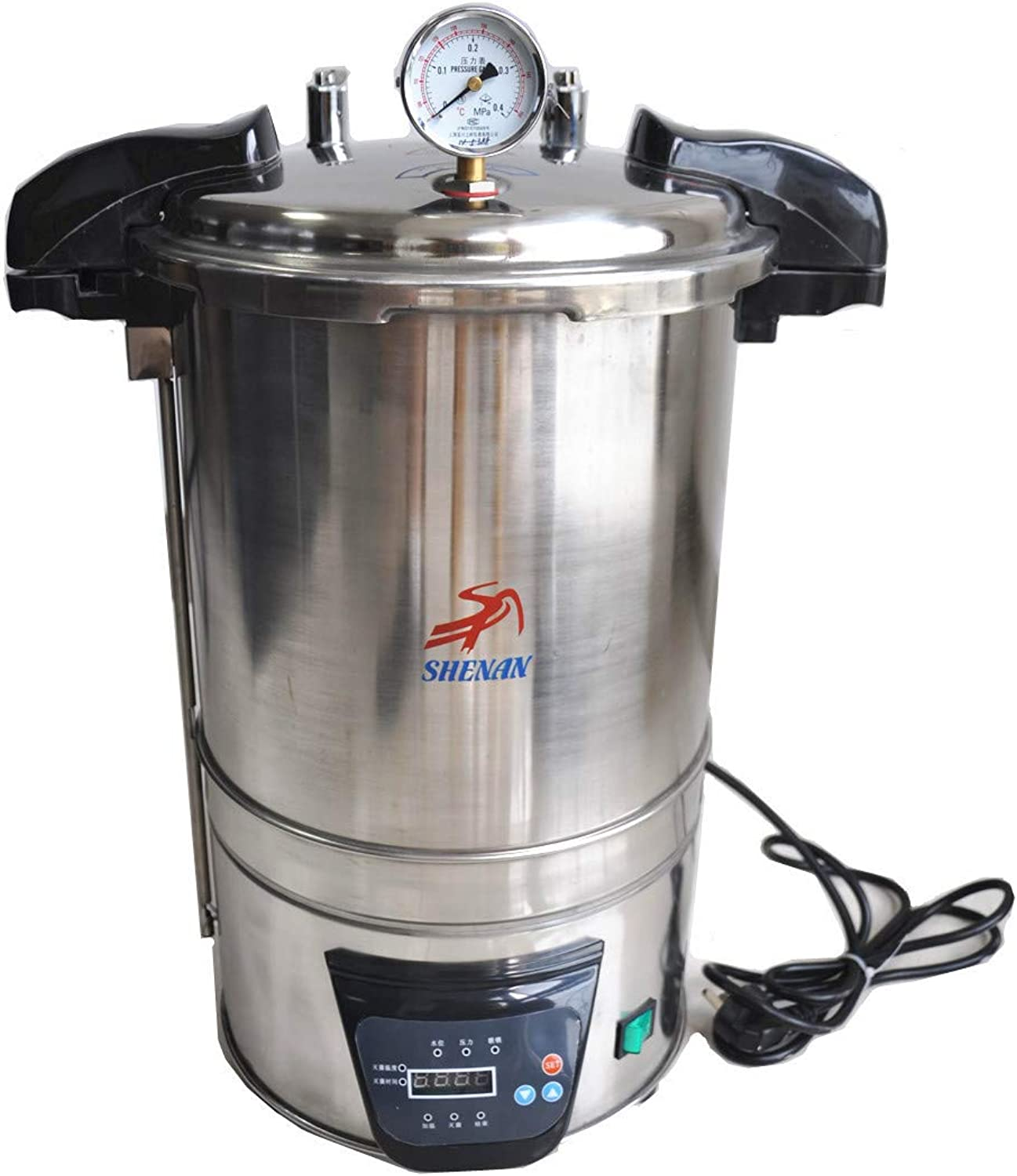 Hanchen SYQDSX280B Portable Autoclave Steam Sterilizer High Pressure Sterilizer Electric Autoclave 18L 220V 220V