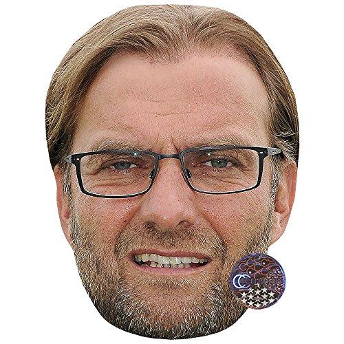 Celebrity Cutouts Jurgen Klopp (Long Hair) Maske aus Karton