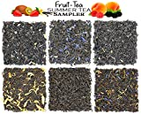 Fruit-Tea Summer Tea Sampler, Refreshing Loose Leaf Tea Assortment Featuring Blackberry, Vanilla,...