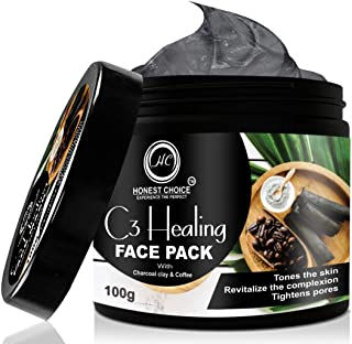 HONEST CHOICE Charcoal, Coffee And Clay Face Mask, 100gm