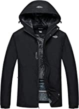 Wantdo Men`s Snowboard Winter Jacket Waterproof Ski Coat Hooded Windproof Parka
