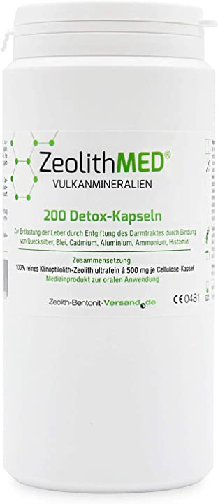 Detox-capsule dispositivo medico ce zeolite med 200 ZK200