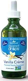 SweetLeaf Drops Liquid Stevia Sweetener, Vanilla Creme, 4 Oz