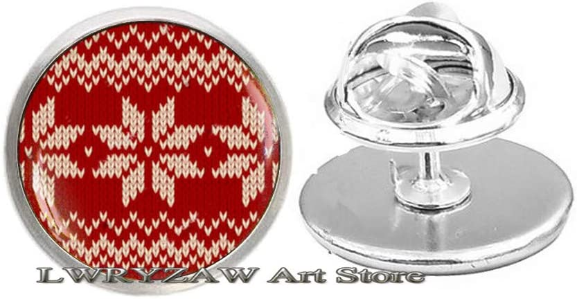 Red Christmas Sweater Brooch Mail order cheap Pin It is very popular Jewelry Snowflake