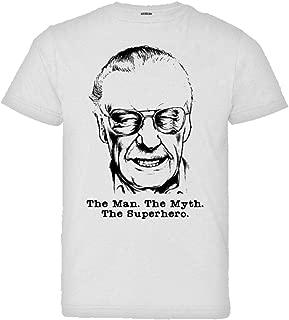 Youth Stan Lee Face Bust Man Myth Superhero HQ Tee Shirt