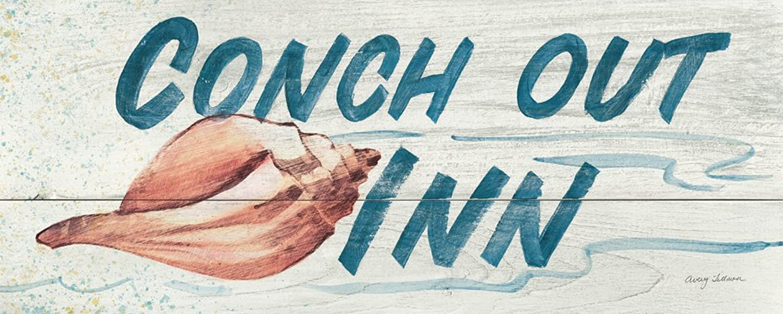 DìMò DìMò DìMò ART Bild Druck auf Leinwand mit Rahmen in Holz Tillmon Avery Conch Out Inn- in Farbe 125x50 cm 125x50 cm B07DYRK6C3   Nutzen Sie Materialien voll aus  664438