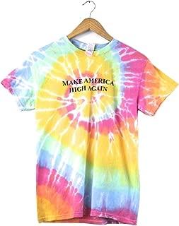 Make America High Again Pastel Rainbow Tie-Dye Graphic Unisex Tee