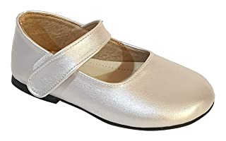 Skippy Faux Leather Round-Toe Velcro-Strap Mary Jane Shoes for Girls