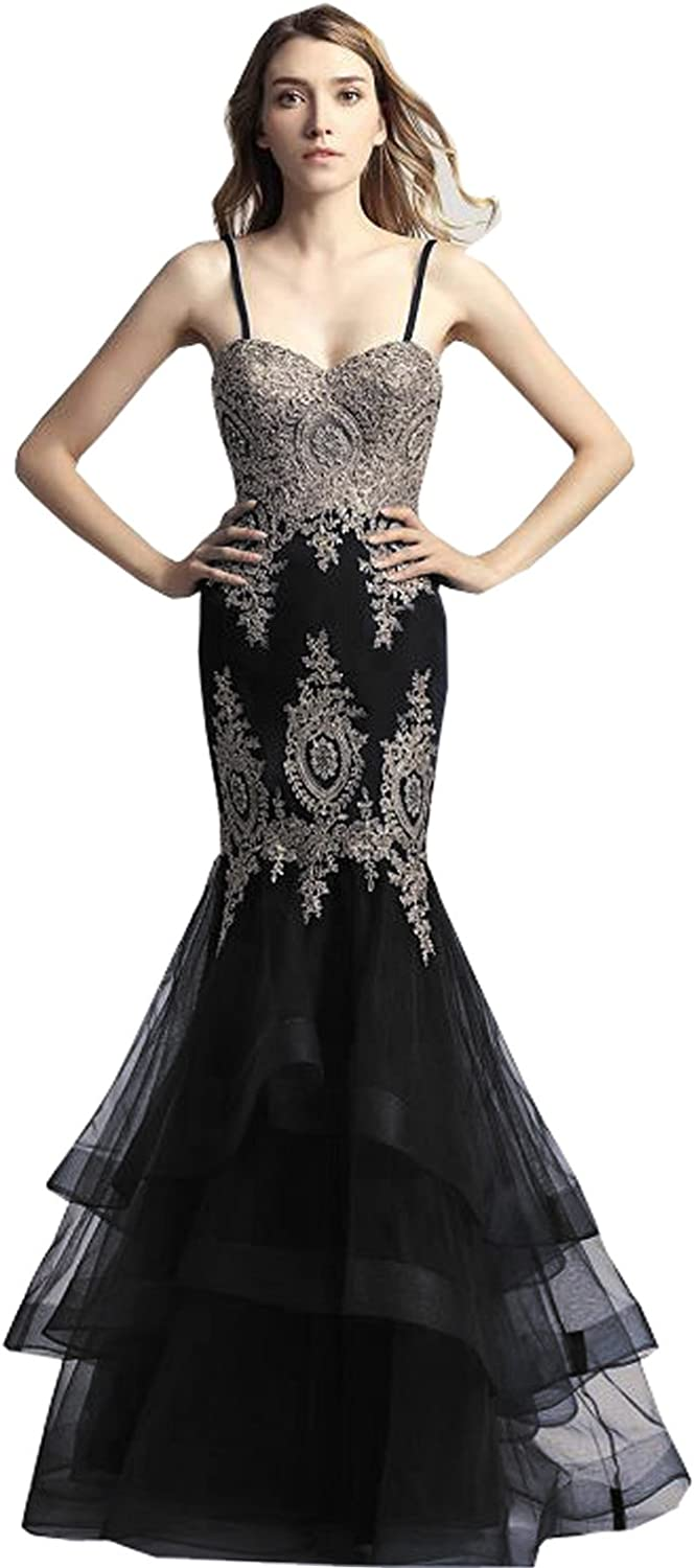 Clearbridal Women's Gifts Long A-line Chiffon Dresses 5 ☆ very popular Lace A Prom with