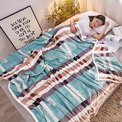PengMu deken voor bank en bed, 300 g, velours, gedraaid, koffiebruin, warm, groen, duurzaam, onderhoudsvriendelijk, voor volwassenen en kinderen