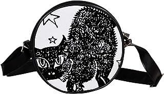 Coosun Umhängetasche für Kinder, Damen, Motiv: Katze mit schwarzen Sternen