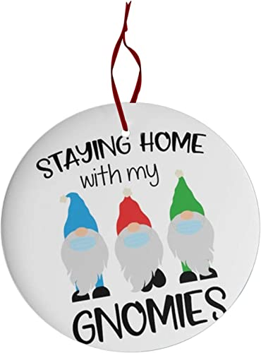discount OPTIMISTIC Christmas Gnome Hanging Ornament, Xmas Tree Santa Decoration, 2020 Survived discount Quarantine high quality Theme Decoratings,Disc Wooden Double-Side Printed Pattern Home Holiday Decor with Ribbon outlet online sale