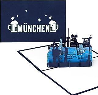 """Pop Up Karte """"München Skyline - München & Bayris"""