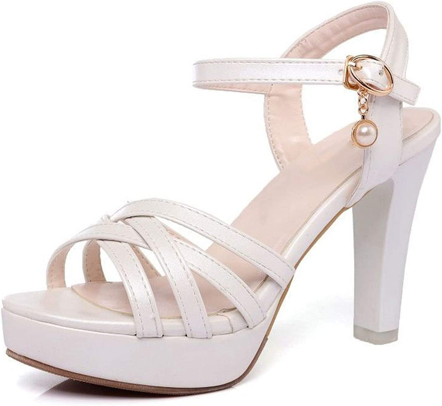High Heel Sandals Ankle Strap Peep Toe Spike Heel Sandals Summer Daily shoes