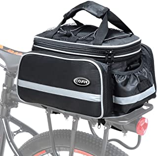 COFIT Bike Trunk Bag 25L/68L, Extensive Large Capacity Bicycle Rear Seat Pannier as Commuter Bag Luggage Carrier