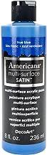 DecoArt Americana Multi-Surface Satin Acrylic Paint, 8-Ounce, True Blue