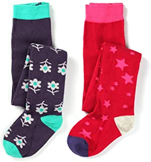 Girls Cotton Knit Fun Fashion Tight lovely Patterns Pack of 2