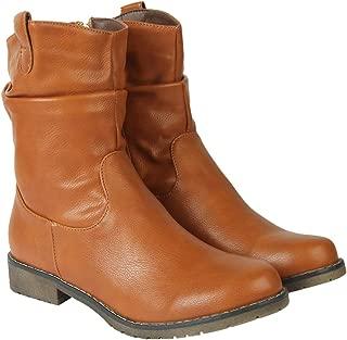 Flat n Heels Womens Tan Boots FnH 7188-F1-TAN