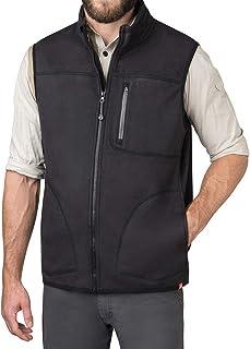 American Outdoorsman Water Repellent Bonded Fleece Full Zip Vests for Men
