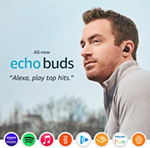 All-new Echo Buds (2nd generation) | Wireless earbuds with active noise cancellation and Alexa | Black