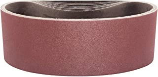 POWERTEC 110860 3 x 18 Inch Sanding Belts | 40 Grit Aluminum Oxide Sanding Belt | Premium Sandpaper for Portable Belt Sander – 10 Pack