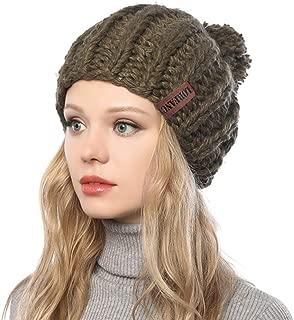 G.C Winter Knit Hat for Women Warm Chunky Pom Pom Beanie Ski Snow Outdoor Cap for Women Teen Girls