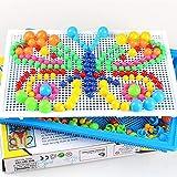 Zerodis Mosaik Steckspiel Pilz Plug Board Puzzle Stecktafel Pädagogisches Spielzeug Geburtstag Kindertag Geschenke für Kinder Kleinkinder