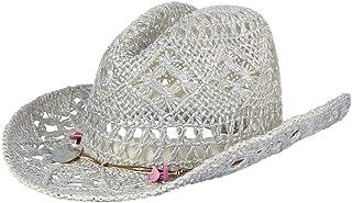 YUGUO Sombrero para El Sol Sombreros De Playa De Floppy Color De Moda para Las Mujeres con Lentejuelas Sombreros De Paja Ahuecan hacia Fuera Sombreros De Sol para Mujer DePanamá Sombrero De Verano