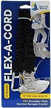 "Flex-A-Cord - 12"" Lengte - Zwart Nylon met RVS Clips - 10x Sterker dan Bungee koorden"