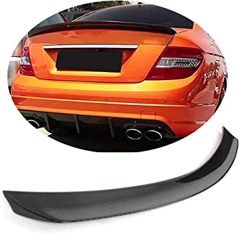 Trunk Spoiler Compatible With 2015-2020 BENZ C-Class W205 Sedan 2016 2017 2018 2019 FD Style Black With Red Line Carbon Fiber Trunk Deck Lid Lip Wing by IKON MOTORSPORTS