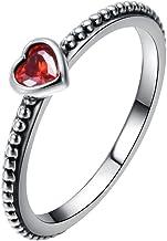 anello pandora con il cuore rosso