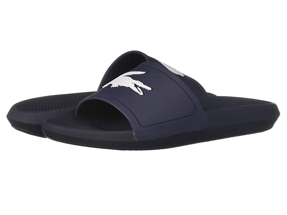 Lacoste Croco Slide 119 1 (Navy/White) Men