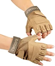 Color Guard Gloves Fingerless, Light Weight and Durable Protection to Prevent Injuries and Maximize Comfort( Tan )